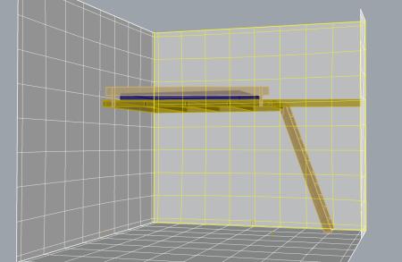ansicht, konstruktionszeichnung in Rhino3d.