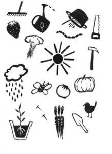 Illustrationen von Flyern, Postkarten.