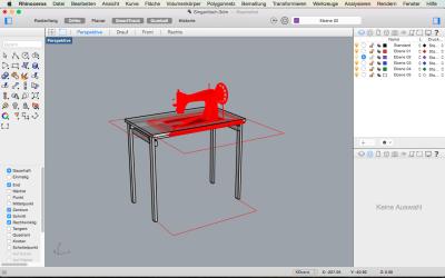wie immer: entwurfszeichnung in Rhino3D